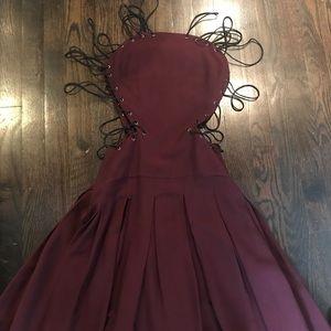 Versus Versace lace up dress.